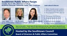 March-27-2018-Southtown-Public-Affairs-forum-6th-District-Councilman-Scott-Taylor-Jan-Marcason-KC-Streetcar-Authority-and-DeAnn-Gould-Lancaster-H&R-Block